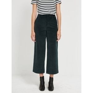Cropped Corduroy Wide Leg Trousers